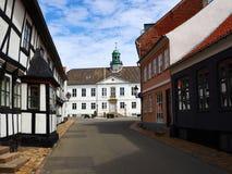 市的中心Bogense菲英岛丹麦 库存照片