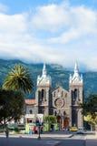 市的中环广场BaA±oss de Agua圣诞老人,厄瓜多尔 免版税库存照片