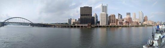 市的全景匹兹堡 免版税库存图片