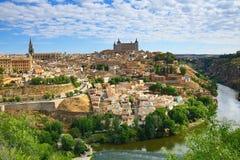 市的全景托莱多,西班牙 免版税库存图片