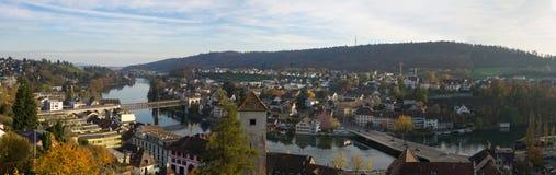 市的全景沙夫豪森(瑞士) 免版税库存图片