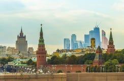 市的全景莫斯科 库存图片
