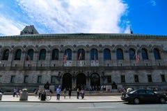 市的公开Libarary波士顿 免版税库存照片