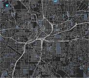 市的地图亚特兰大,美国 皇族释放例证