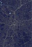 市的地图亚特兰大,美国 向量例证