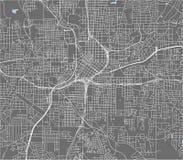市的地图亚特兰大,美国 库存例证