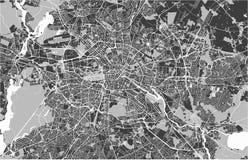 市的地图柏林,德国 库存例证