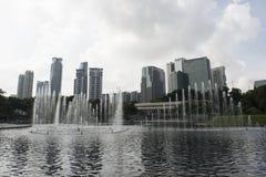 市的地平线吉隆坡 马来西亚 免版税库存图片