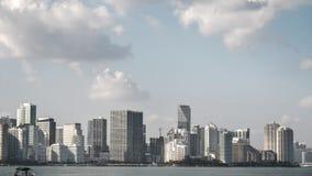 市的地平线的时间间隔迈阿密 股票视频