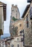 市的城堡Frias布尔戈斯,西班牙 库存图片