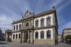 市的城镇厅的门面蓬特韦德拉 库存照片