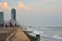 市的堤防科伦坡 免版税库存图片