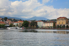 市的堤防Lugano 免版税库存图片