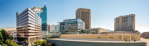 市的大厦上面博伊西爱达荷 免版税库存图片
