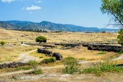 市的废墟希拉波利斯 免版税库存图片