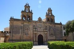 市的教会宇部在安大路西亚西班牙 免版税库存照片