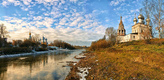 市的教会沃洛格达州 图库摄影