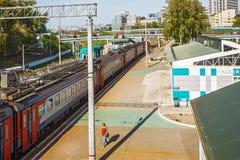市的火车站新西伯利亚 图库摄影