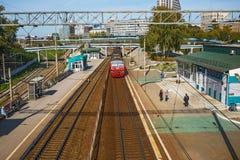 市的火车站新西伯利亚 库存照片