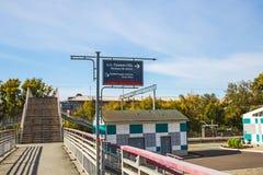 市的火车站新西伯利亚 免版税库存照片