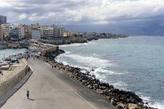 市的看法伊拉克利翁,克利特-希腊 库存图片
