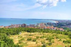 市的看法布尔加斯 免版税库存照片