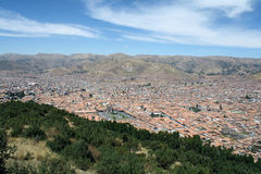 市的看法库斯科,秘鲁 免版税库存图片