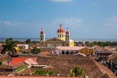 市的看法格拉纳达,尼加拉瓜 免版税库存照片