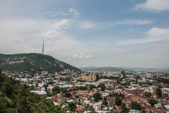 市的看法第比利斯 免版税库存图片