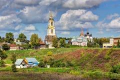 市的看法苏兹达尔 俄国 库存照片