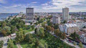 市的看法鲁塞从上面 免版税库存照片