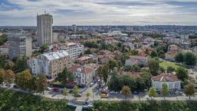 市的看法鲁塞从上面 库存照片
