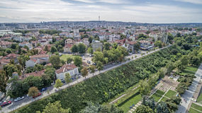 市的看法鲁塞从上面 免版税库存图片