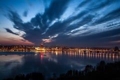 市的看法Dnieper第聂伯罗彼得罗夫斯克 库存照片