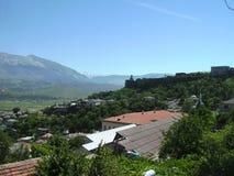 市的看法Gjirokaster阿尔巴尼亚 免版税图库摄影