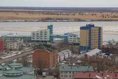 市的看法Khanty-Mansiysk 免版税图库摄影