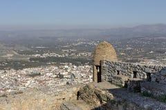 市的看法Nafplion希腊,阿尔戈利斯州区 库存照片