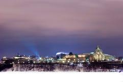 市的美好的冬天场面渥太华安大略加拿大 图库摄影
