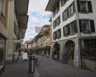 市的老镇图恩(瑞士) 免版税库存图片