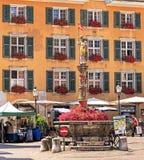 市的老镇索洛图恩,瑞士 免版税库存照片