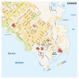 市的街道地图达尔文,北方领土,澳大利亚 库存图片