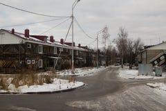 市的路和看法Khanty-Mansiysk 俄国 库存照片