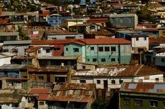 市的都市混乱瓦尔帕莱索 免版税库存图片