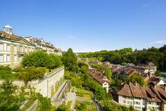 市的都市风景伯尔尼在瑞士 免版税库存图片