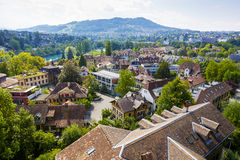 市的都市风景伯尔尼,瑞士 免版税库存图片