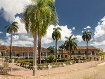 市的镇中心特立尼达古巴 免版税库存照片