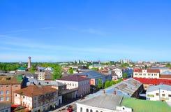 市的顶视图雷宾斯克 俄国 免版税图库摄影