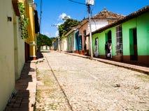 市的风景看法特立尼达古巴 免版税图库摄影