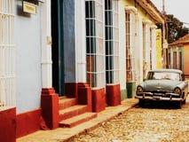 市的风景看法特立尼达古巴 库存图片