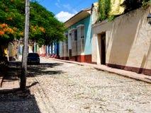 市的风景看法特立尼达古巴 免版税库存图片